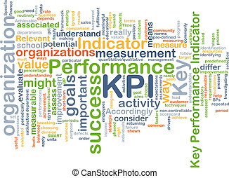 KPI wordcloud concept illustration - Background text pattern...