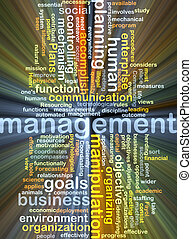 management wordcloud concept illustration glowing