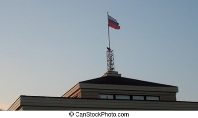 Russian flag, growing in the wind - Russian flag in the wind...