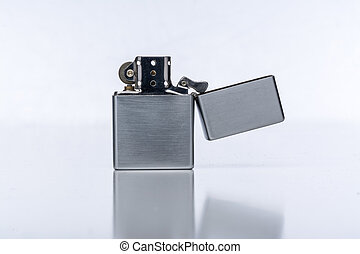 Isolated Lighter - Studio shot of a Zippo style lighter...
