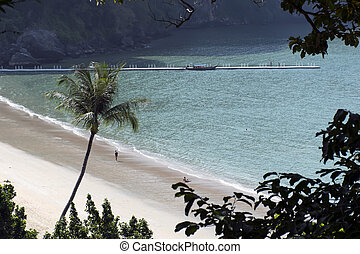 Aonang Beach Coastal Line Pier - Coastal Line in South of...