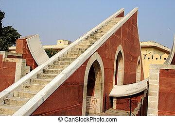 Astronomical Observatory, Jaipur - Sun dial at Jantar...