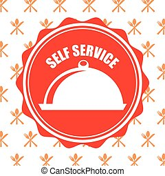 self service design, vector illustration eps10 graphic