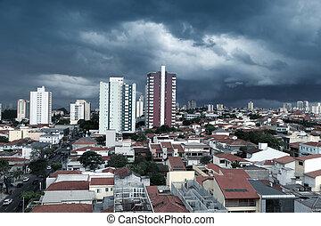 Sao Caetano do sul - Stormy landscape of Sao Caetano do sul...