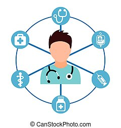 medical care design, vector illustration eps10 graphic