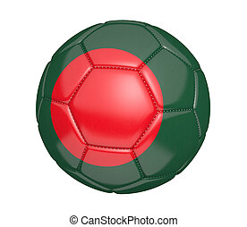 Soccer ball with flag of Bangladesh - Soccer ball, or...