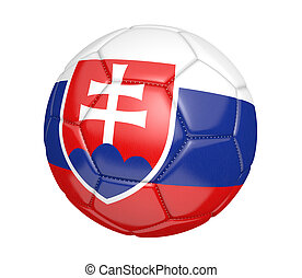 Soccer ball with flag of Slovakia - Soccer ball, or...