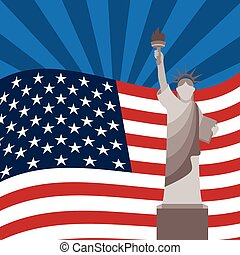 flag usa - usa flag design, vector illustration eps10...