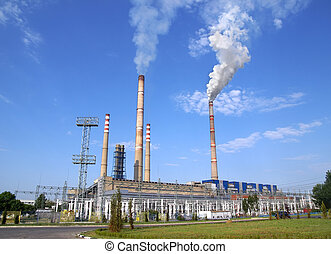 Ecological infection of thermo electric power station