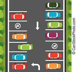 Parking design. - Parking design over gray background,...