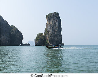 Aonang Beach Boat Coastal Line - Coastal Line in South of...