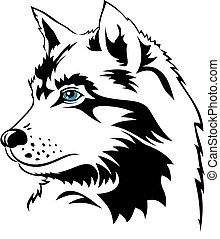 Wolf - Abstract vector illustration of wolf
