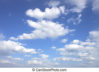 Blue sky - The vast blue sky and clouds sky