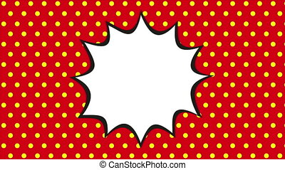 Pop art background, animation - Pop art background, Video...
