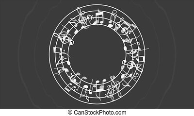 Music animation - Music notes background, Video animation,...