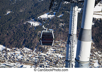 Ski lift - View of  the ski lift