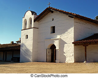 Small white church - Small church in Spanish style in Santa...
