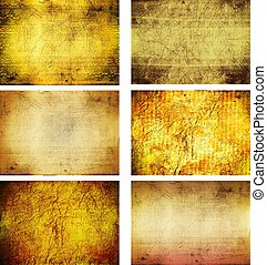 collection of grunge background textures
