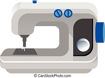 Vector flat sewing machine icon