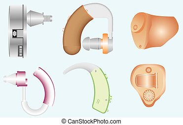 Hearing Aids. Hearing aids different kinds. Types of Hearing...