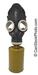 negro, máscara,  gas