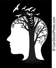 Ecology think, art vector design