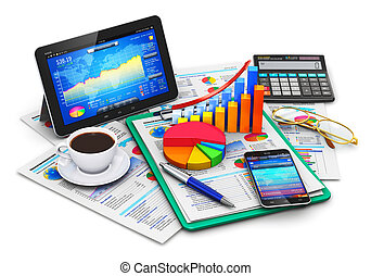 Business, finance and accounting concept - Creative abstract...