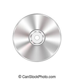 Compact Disc - Grey Compact Disc Isolated on White...