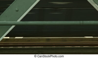 Blurred motion of a train on a rail - Extraordinary view of...