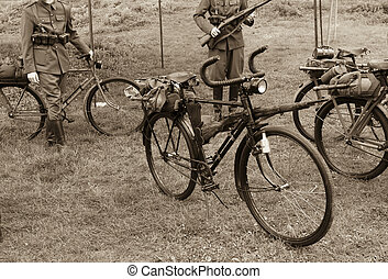 Old military bicycle - Old military bike used in the First...