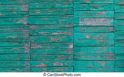 old green board with cracks