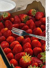 食物, 新たに, いちご,  -, フルーツ