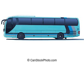 tourist bus isolated