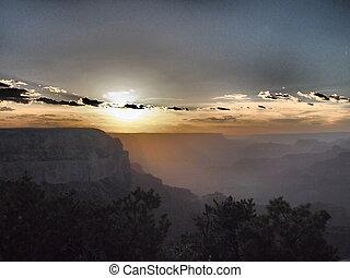 Sunset at Grand Canyon.