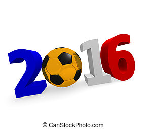 Soccer 2016 - Soccer background 2016 with a golden socce...
