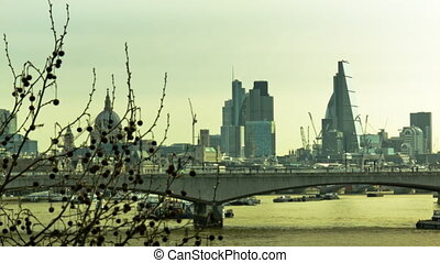 Panoramic cityscape of London - Iconic cityscape of London,...