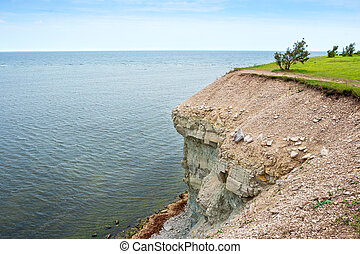 Baltic Sea coast Saaremaa island, Estonia - Panga cliff...