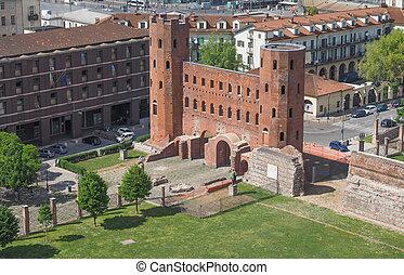 Torri Palatine Turin - Aerial view of Palatine towers aka...