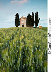 Chapel in Tuscan hills