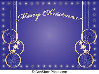 Merry Christmas light blue