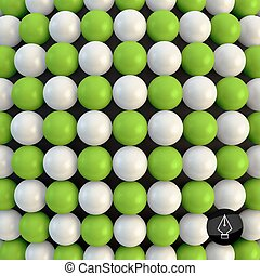 Abstract technology background with balls. Spheric pattern....