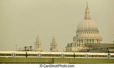 Commuter train passing by - Train passing from Cannon Street...