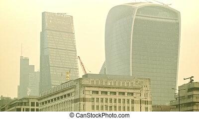 Tilt shot to the London Bridge - Tilt shot from the...