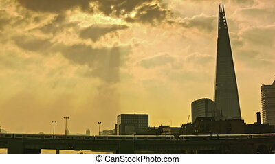 Stunning morning view of Shard - Beautiful moment of the...