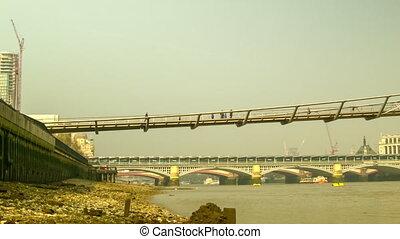 Panoramic view of Millennium Bridge