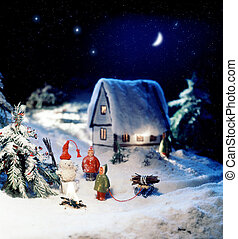 Happy New Year - Photo miniature about New year holiday with...