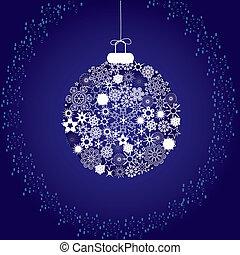 snowflakes blue white