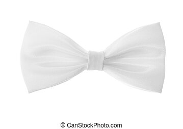 a white bow-tie on white background Isolated