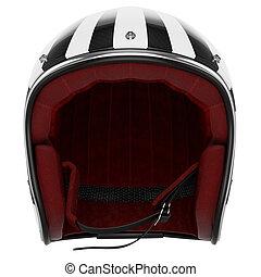 Motorcycle helmet black white front view - Motorcycle helmet...