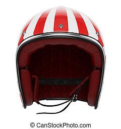 Motorcycle helmet red white front view - Motorcycle helmet...